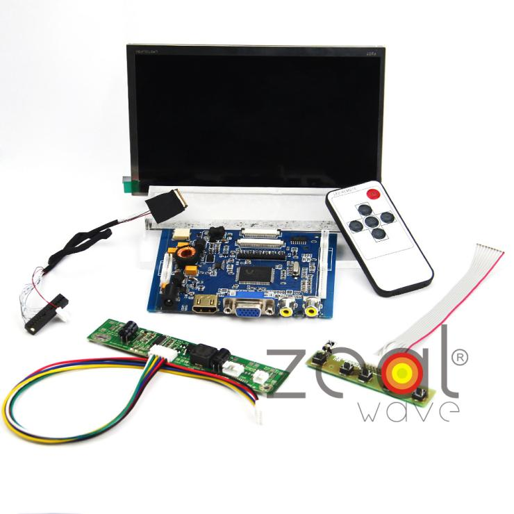(HDMI+VGA+2AV+AUDIO) Controller Driver Board+For LMS700JF04 7 7Inch TFT 1024*600 IPS LCD Display