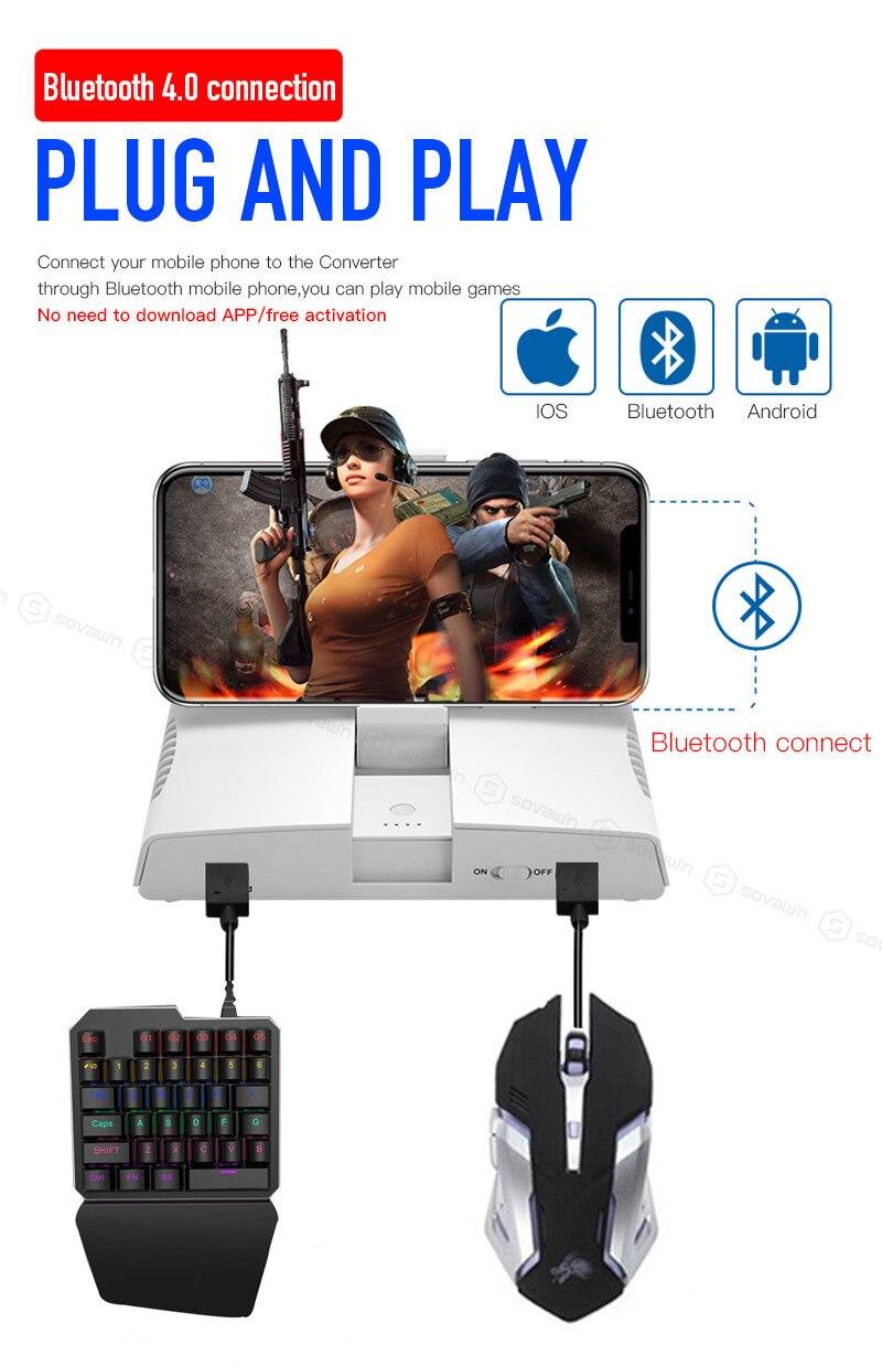 Shop Portable PUBG Mobile Bluetooth Gamepad Gaming Keyboard