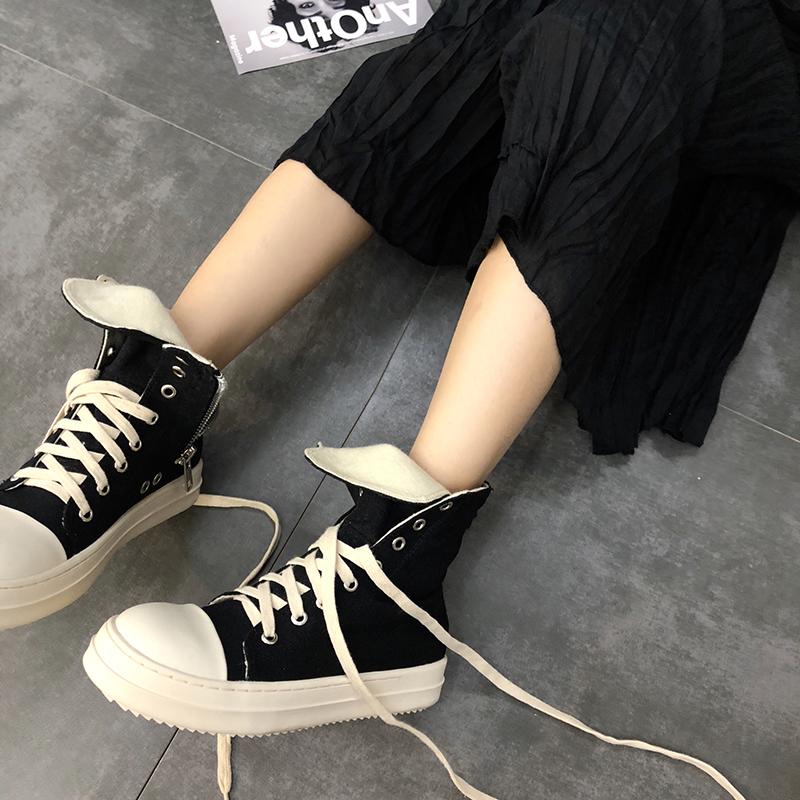 2019 Fashion High Top Sneakers Canvas Shoes Women Casual Shoes Black Flat Female Basket Lace Up Solid Trainers Chaussure X4-102019 Fashion High Top Sneakers Canvas Shoes Women Casual Shoes Black Flat Female Basket Lace Up Solid Trainers Chaussure X4-10