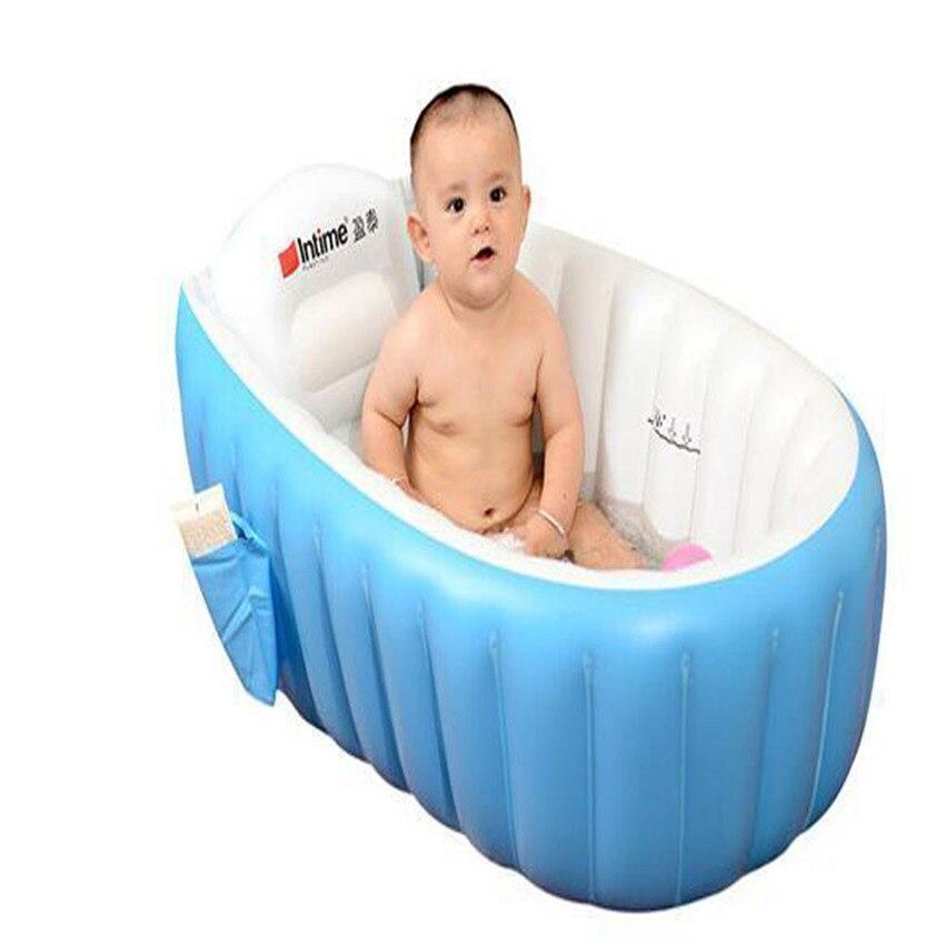 2018 Comfortable thick Environmental Baby Inflatable Bath Tub Thickening Insulation Bath Barrel #0425