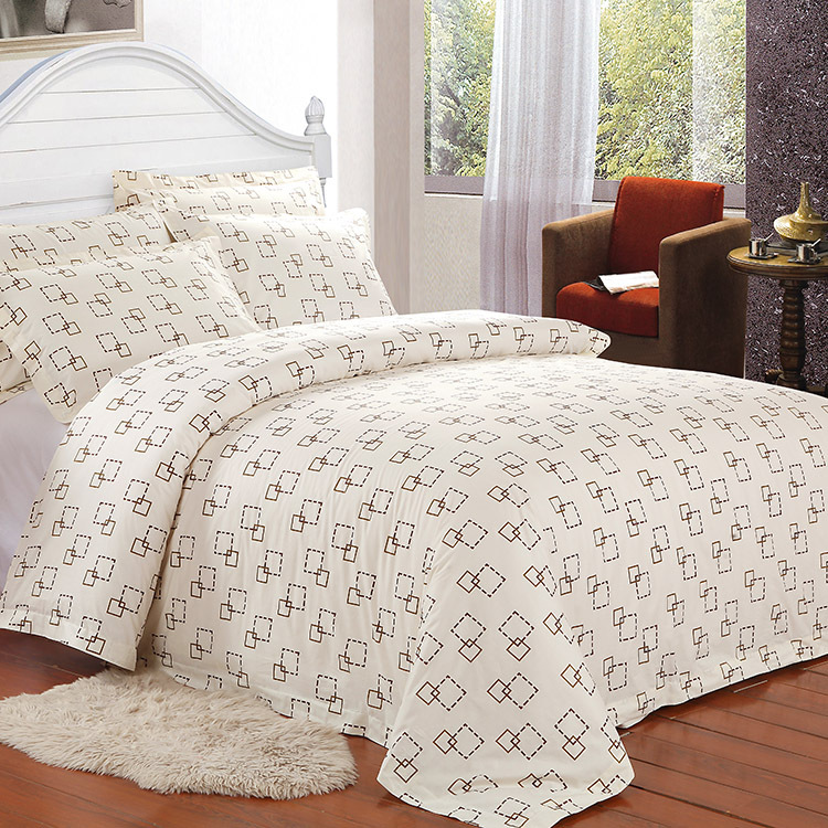 Printed Duvet Cover Set Luxurious Cotton Comfortable Breathable And Soft Material Wrinkle Fade Stain Resistant Forhotel In Bedding Sets From Home