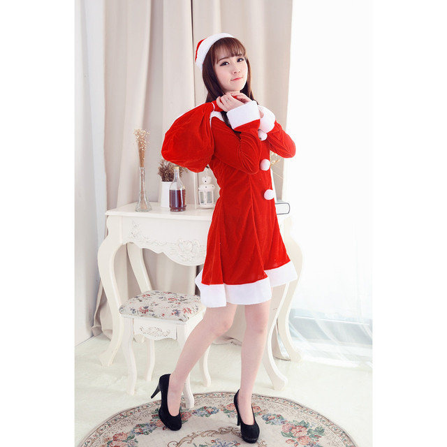 01af9d9df6c5 NewBeautiful Cheap More Funny Women Sexy Santa Christmas Costume Fancy  Dress Xmas Office Party Outfit red winter dress vestidos