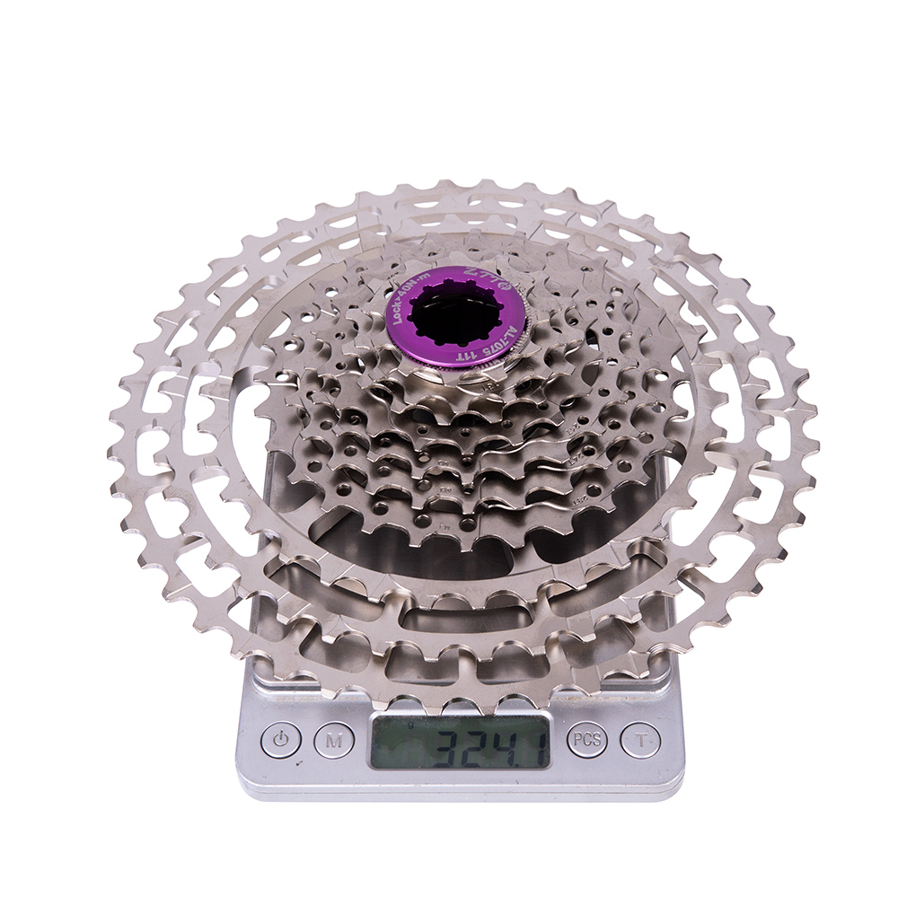 ZTTO MTB 10 Speed 11-46T SLR2 Bicycle Cassette HG Compatible Silver 10S Freewheel 10V CNC K7 For MTB XX X0 X9 X7 M610 M781 M786
