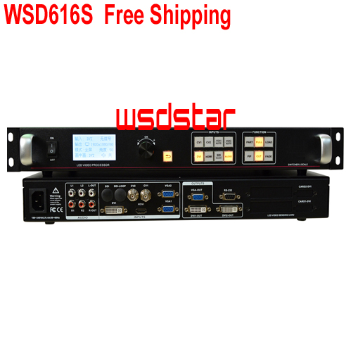 WSD616S LED video processor SDI/HDMI/DVI/VGA/CVBS Support PIP & POP Support One key freeze image & Black screen Free Shipping-in LED Displays from Electronic Components & Supplies