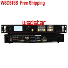 Wsd616s led 비디오 프로세서 sdi/hdmi/dvi/vga/cvbs 지원 pip & pop 지원 one key freeze image & black screen 무료 배송