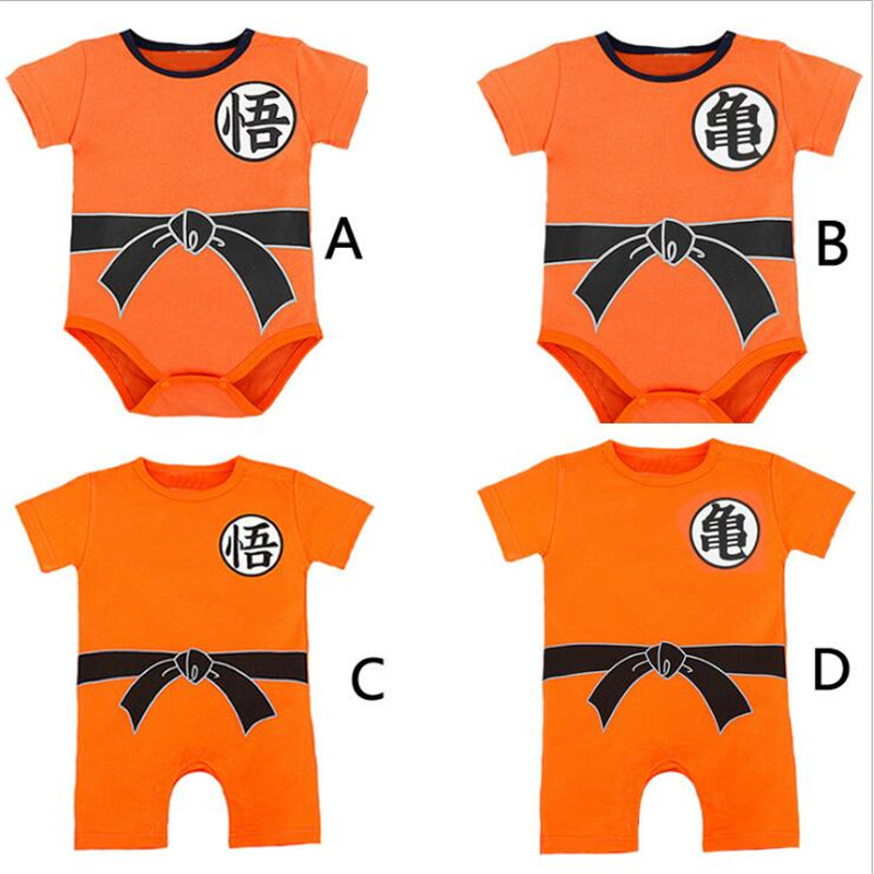 Japanese Anime Dragon Ball Son Goku Cosplay Costume Baby Girls and Boys Free Shipping