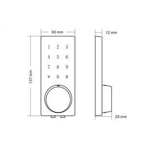 Image 5 - Fechadura eletrônica da porta do deadbolt da casa inteligente, fechadura da porta de digitas do código keyless inteligente impermeável do pino da senha