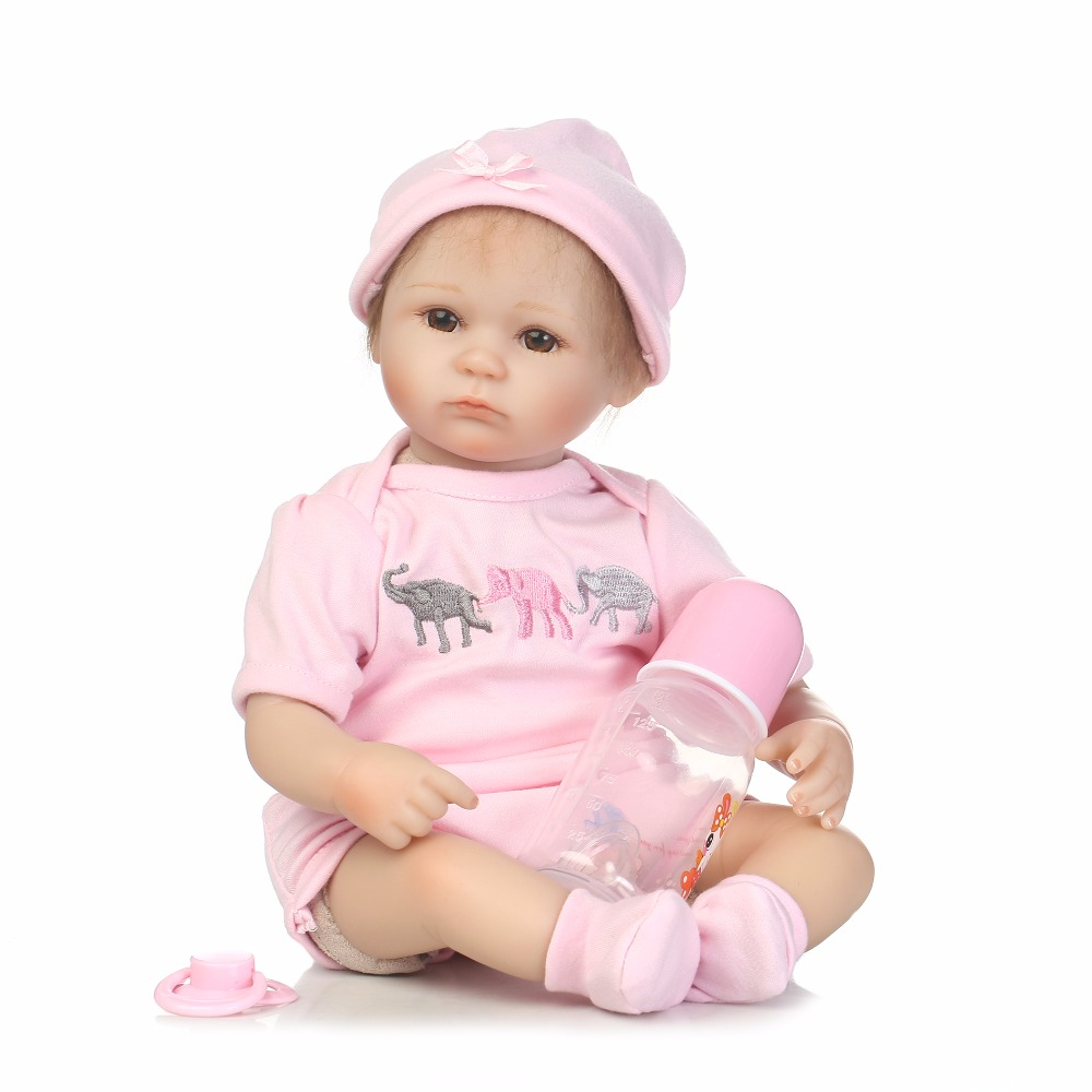 40cm Silicone reborn baby doll toys 16inch newborn princess girls babies reborn toy doll birthday present gift play house toy 55cm silicone reborn baby doll toy realistic 22inch newborn princess babies doll girls bonecas birthday gift present play house