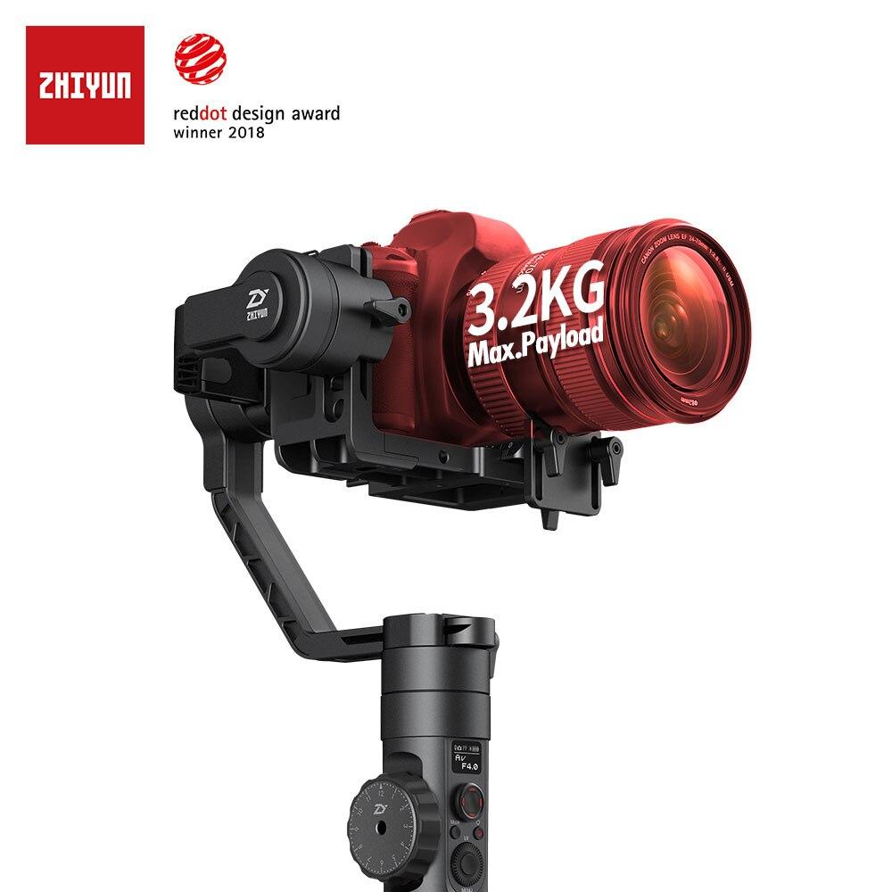 ZHIYUN Ufficiale Gru 2 Nuovo Stabilizzatore Gimbal per Tutte Le Fotocamere REFLEX Digitali con Segue Il Fuoco Treppiedi della Macchina Fotografica Cavo di Controllo