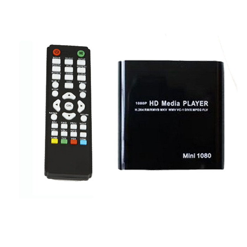 Meilleur Prix 1080 P Mini HDD Media Player MKV/H.264/RMVB HD avec HÔTE USB/SD Carte lecteur UE plug