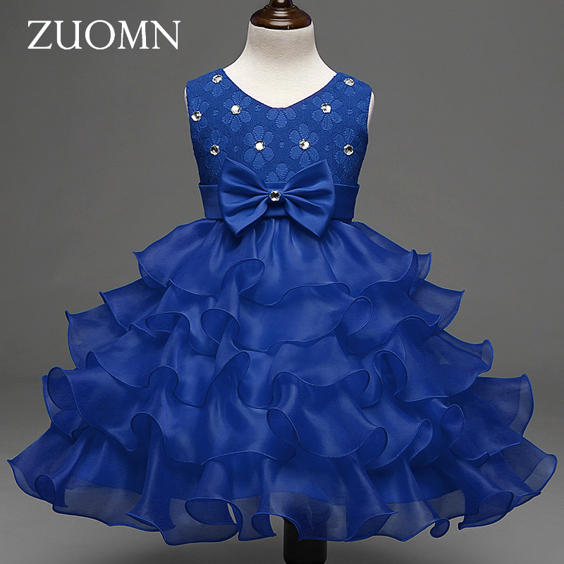 Girls Dresses Children Dance Princess Dresses Girls Flower Sleeveless Cinderella Dress Party Wedding Clothes New Fashion GH369