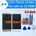 Letv X500 LCD Display + Touch Screen Nuevo Ensamblaje Del Panel de Cristal Digitalizador de Pantalla Para X500 Letv Le 1 S/Letv X501 5.5 pulgadas