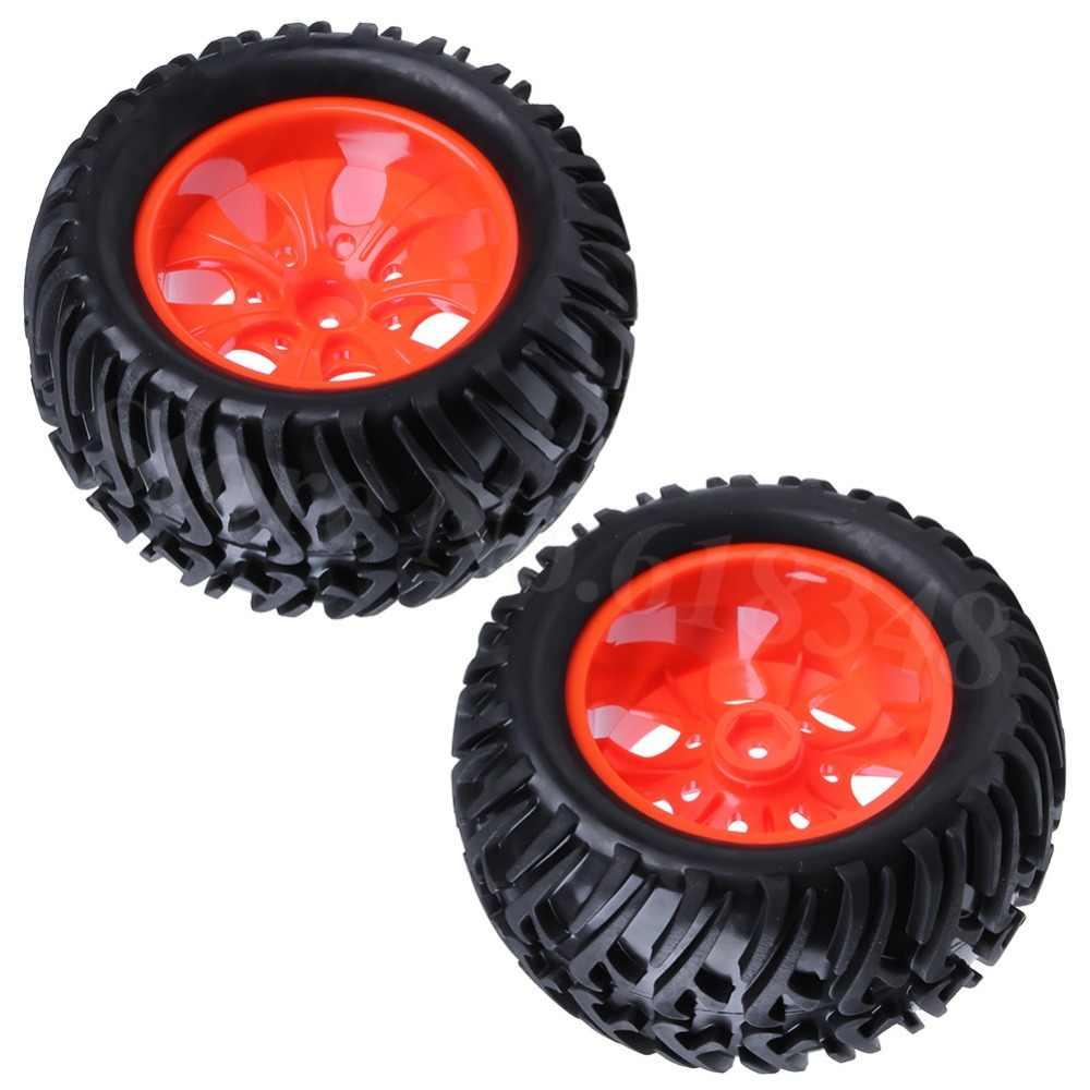 4 piezas 125mm caucho RC Monster neumáticos y ruedas Pie Grande neumático hexagonal 12mm para 1:10 Off Road camión