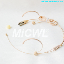 все цены на Omnidirectional Headset Microphone for MiPro Sennheiser Shure AKG Audio Technica Wireless Beige High Sound Quality Mic Beta58 онлайн