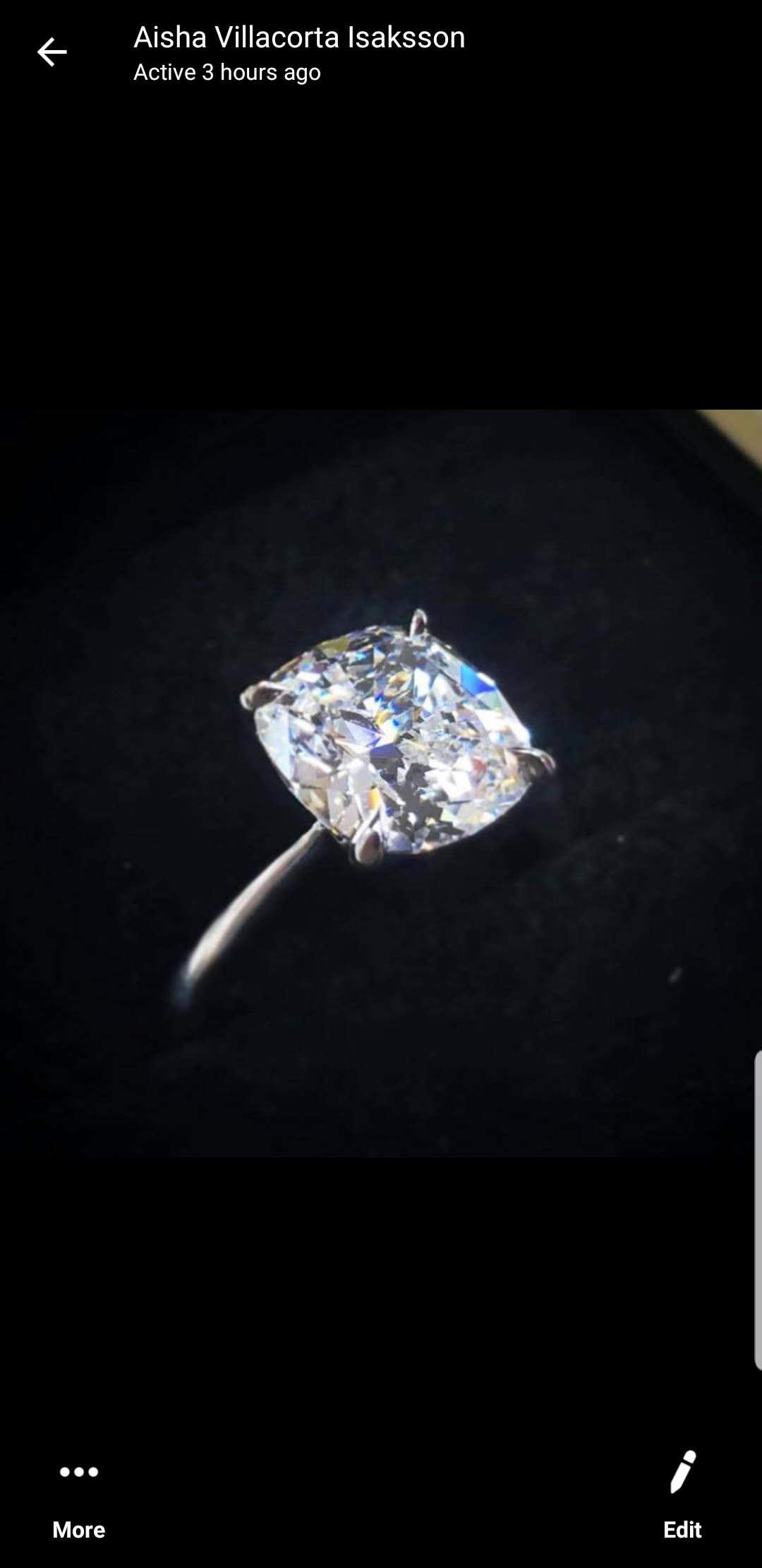 Livraison express gratuite 100% véritable 585 anneaux avec des bagues de mariage Moissanite, bande de mariage, Moissanite brillant passer le test