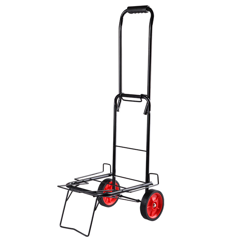 e1524f1951b7 US $27.6 20% OFF|Portable Luggage Cart Folding Pull Bucket Pull Cart Pull  Cargo Trolley Small Trailer Trolley Shopping Cart Small Cart-in Storage ...