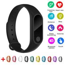 Banda inteligente M2 À Prova D' Água Heart Rate Monitor Bluetooth Inteligente Pulseira Pedômetro de Fitness Rastreador Pulseira para IOS Android Phone