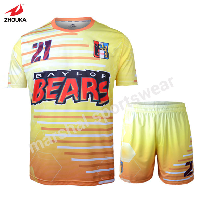 New design soccer jersey personalized football jerseys for Full size t shirt printing
