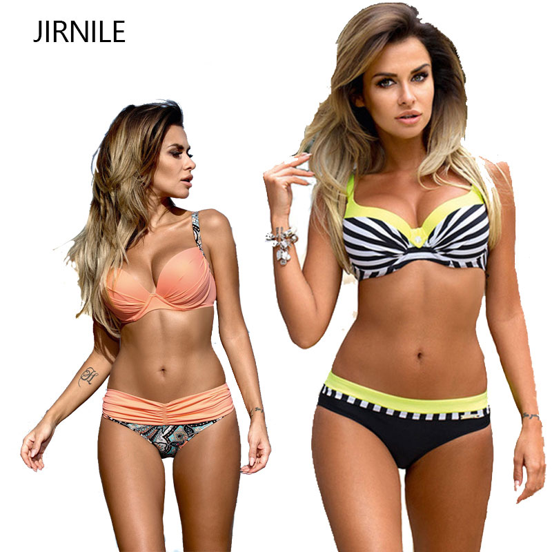 2017 Push Up Bikini Low Waisted Swimwear Women Female Yellow Swimsuit Bathing Suit Beach Wear Brazilian Maillot De Bain Biquini