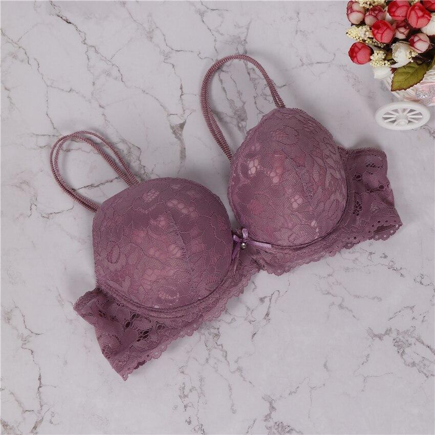 2018 brand new sexy lace bra solid flower three quarters women underwear hot sale girls intimate