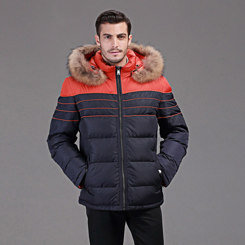 winter down jacket men Europe and USA minus 40 degrees warm duck down jacket Really raccoon fur collar coat size 46 54 Q109