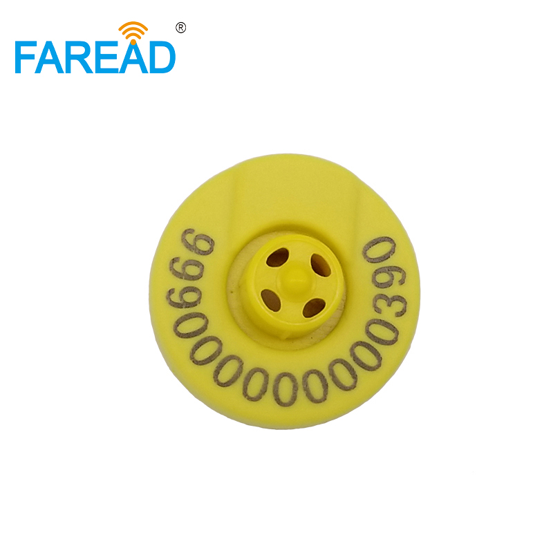 X50pcs ISO11784/11785 134.2KHZ HDX Standard RFID Chip Animal Ear Tag For Cattle Cow Pig Sheep Identification