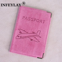Genuine leather Russia sell pigskin suede High quality passport cover Card bag