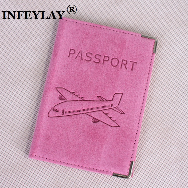 Genuine leather Russia sell pigskin suede High quality passport cover Card bag Tourism go abroad travel Passport Holder gifts
