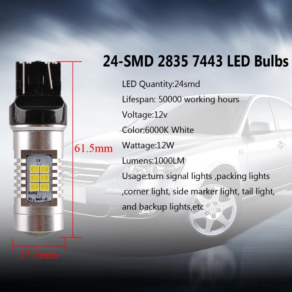 AutoEC 7440/7443 H1 H7 prednja svjetla 24 smd 2835 Automobili - Svjetla automobila - Foto 3