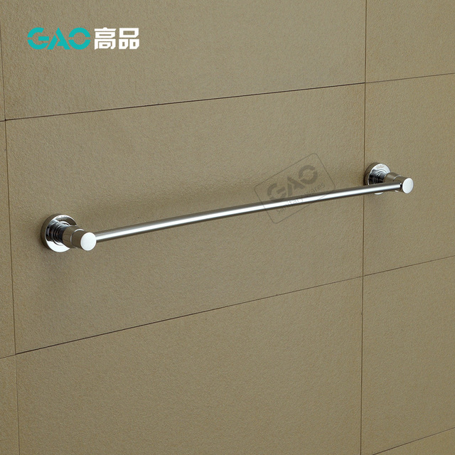 Free Shipping Towel Bar Holder Solid Br Made Chrome Finish Bathroom