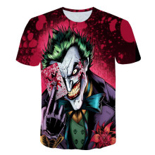 2019 New Arrival the Joker  3D T shirt Funny Printed Comics Character With Poker t-shirt summer style Casual Tee Tops