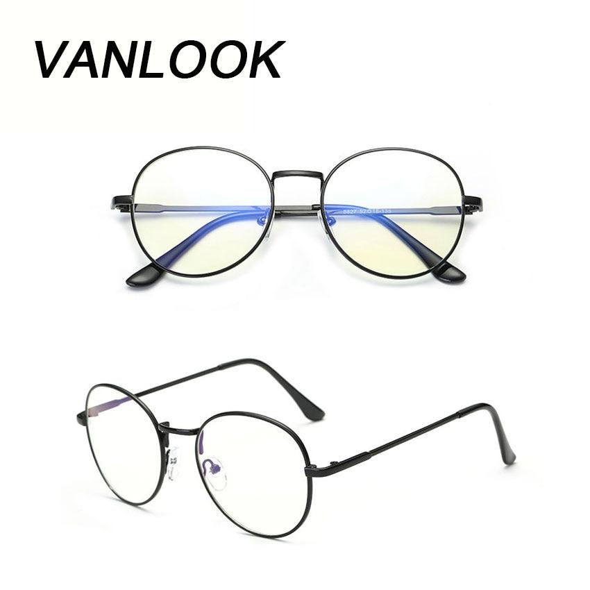 2e2e1aee9 الكمبيوتر نظارات Oculos دي غراو Feminino ارماكاو جولة النظارات شفافة إطار  مشهد للنساء الرجال