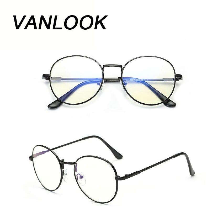 Gafas de ordenador Oculos de Grau Feminino Armacao gafas redondas montura transparente para Mujeres Hombres