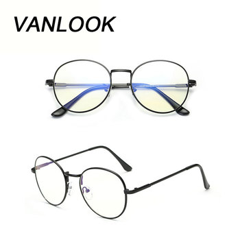 Komputerowe okulary óculos de Grau Feminino Armacao okrągłe okulary przezroczyste oprawki dla kobiet mężczyzn