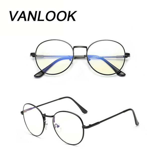 Óculos de computador Óculos de Armação oculos de Grau Feminino Rodada  Transparente Armação de óculos para 4af30057d8