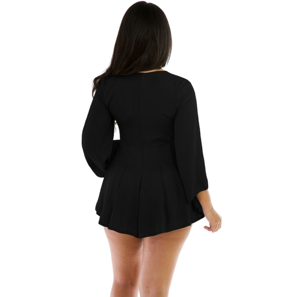 5bb88e316121 FGirl Womens Playsuits 2017 Rope Bell Sleeve Romper Sexy Body Women Rompers  Playsuit FG21606-in Rompers from Women s Clothing on Aliexpress.com