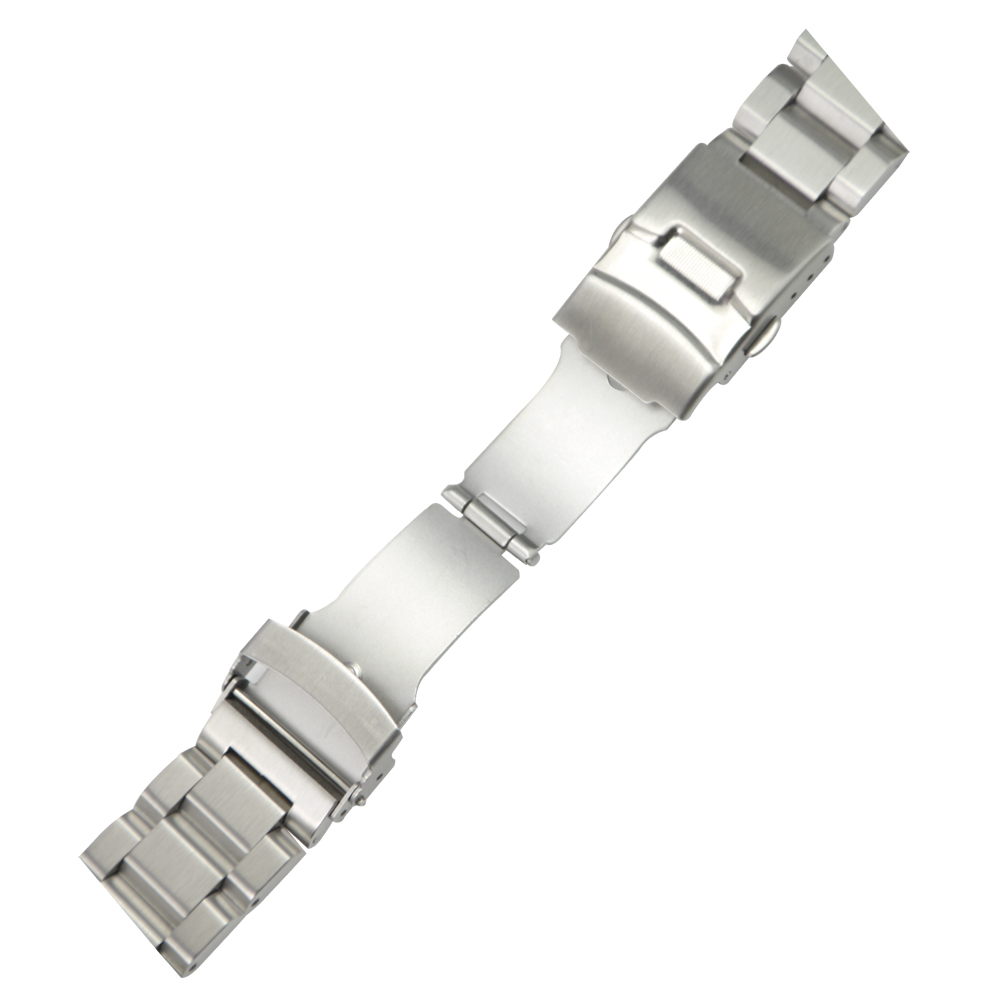 ZLIMSN Gümüş Bilezik Katı Paslanmaz Çelik Kordonlu Saat 18 20 22 - Saat Aksesuarları - Fotoğraf 4