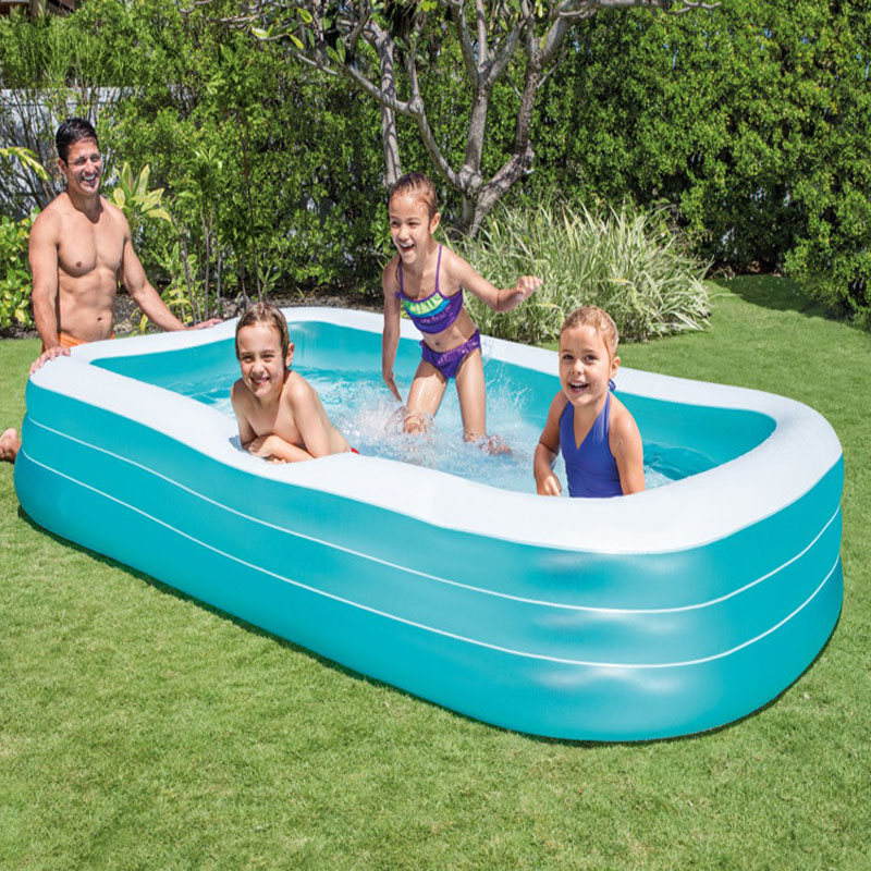 Ultralarge 305*183*56 CM Piscine Gonflable pliable Piscine Gonflable Zwembad Piscine Piscina avec pompe