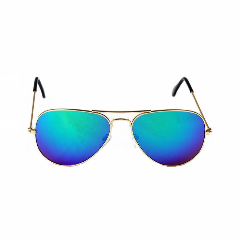 Mirrored Sunglasses For Men   Women Alloy Gold Frame Colored Mirror Lens  Unisex UV400 Cheap Glasses Eyewear For Sale c0d82676e3