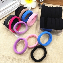 10PCS/Lot Women Colorful Elastic Hair Rubber Band Black Hair ring Rope Ponytail Holder Girl Hair bands Accessories Tie Gum