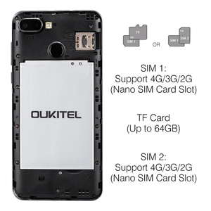 Image 3 - OUKITEL C11 Pro 4G Smartphone 5.5 inch 18:9 Android 8.1 Quad Core 3GB RAM 16GB ROM Cell phones 3400mAh Mobile Phone
