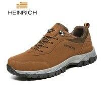 HEINRICH Men Shoes Big Size Fashion Suede Comfortable Outdoor Casual Shoes Non Slip Mens Sneakers Footwear Zapatillas Hombres