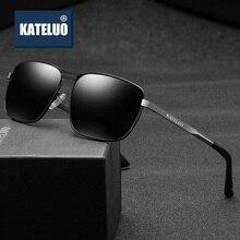 KATELUO, Ретро стиль, брендовые поляризованные мужские солнцезащитные очки, сплав, солнцезащитные очки, аксессуары для мужчин, oculos de sol masculino 63728