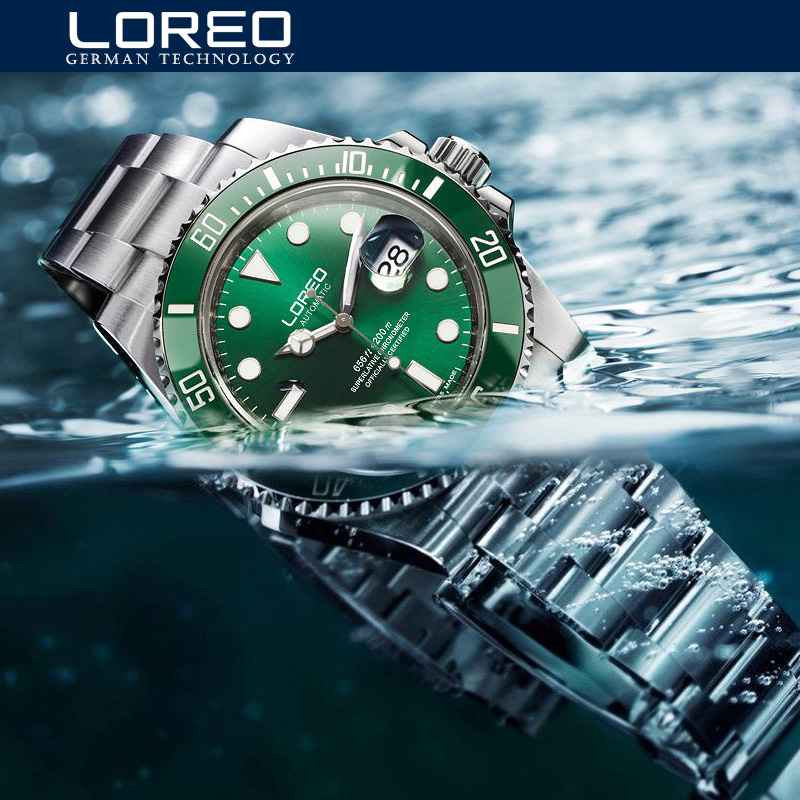 Famous Band Role Luxury Men Watch Automatic 200M Waterproof Swimming Diving Watch Mechanical Self Wind Wristwatch Sapphire Glass deluxe ailuo men auto self wind mechanical analog pointer 5atm waterproof rhinestone business watch sapphire crystal wristwatch
