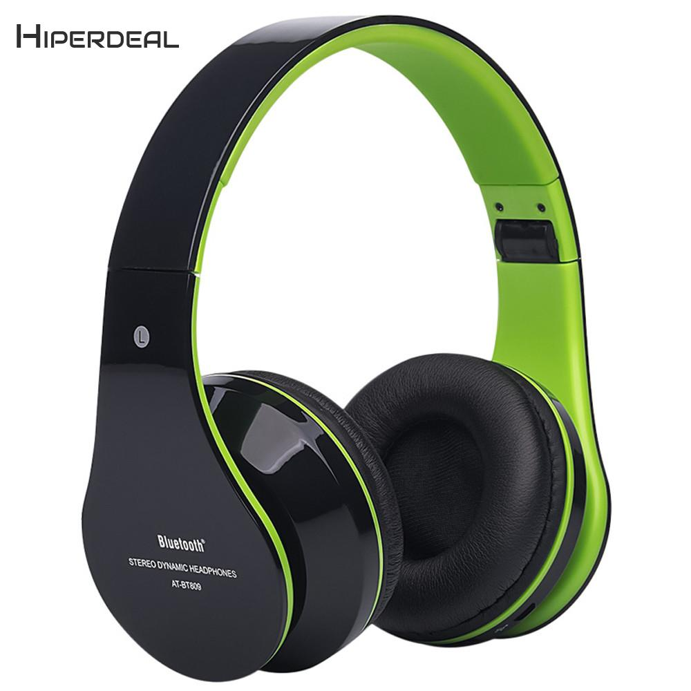 HIPERDEAL Coolest Fashion Headphone Foldable Wireless Bluetooth Stereo Headset Hands-free Headphone MIC TF Card Stereo BAY24