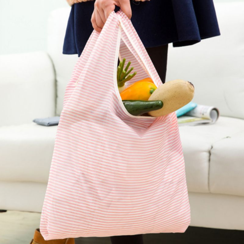 Durable Pocket Portable Shopping Bags Reusable Grocery Bag Practical Oxford Cloth Waterproof Shopping Tote Bag Woman Handbag in Storage Bags from Home Garden