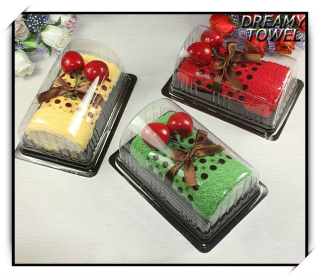 Online Shop 100Cotton Creative Swiss Roll Cake Towel For Wedding