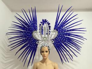 Image 5 - Latin dance Samba accessories Fashion exquisite headdress feathers Delicate dance shows accessories Samba clothing