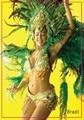 Memorabilia de Ímãs, brasil Samba Dancing Girl Tourist Retângulo de Metal Imã 5367 Como Lembranças