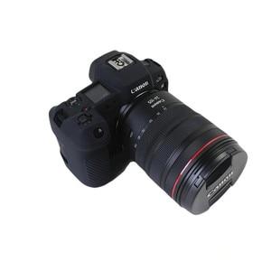 Image 5 - חדש סיליקון שריון עור מקרה גוף כיסוי מגן עבור Canon EOS R ראי דיגיטלי